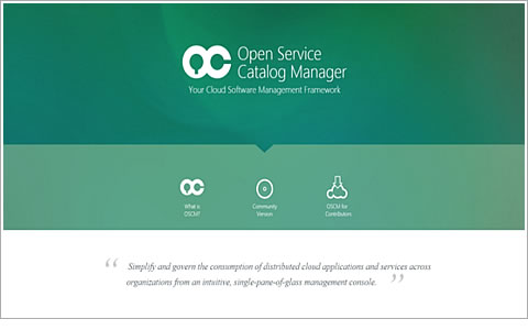 「Open Service Catalog Manager」公開サイト