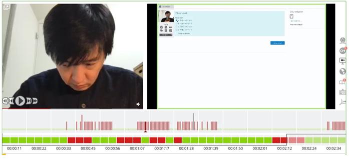 図2. 自動不正検知システムの結果レポートのイメージ画面